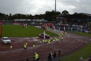 Jeugd sportevenement in het stadium