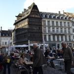 Druk maar heel gezellig hier in Strasbourg